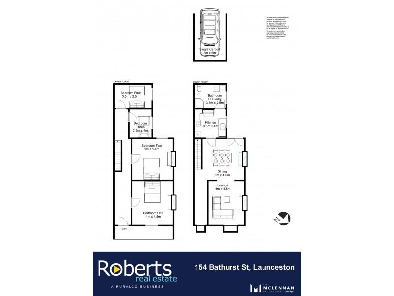 154 Bathurst Street, Launceston TAS 7250 Floorplan
