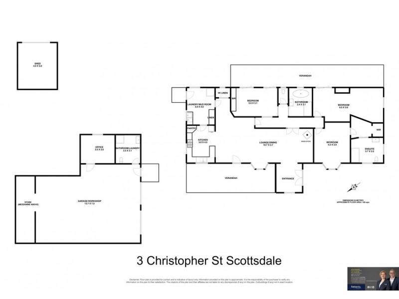 3 Christopher Street, Scottsdale TAS 7260 Floorplan