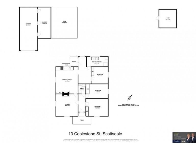 13 Coplestone Street, Scottsdale TAS 7260 Floorplan