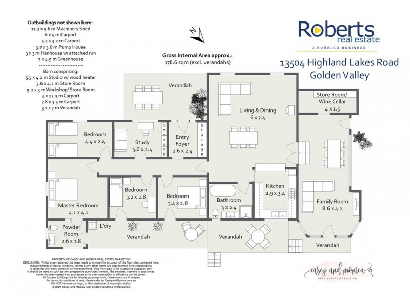 13504 Highland Lakes Road, Golden Valley TAS 7304 Floorplan