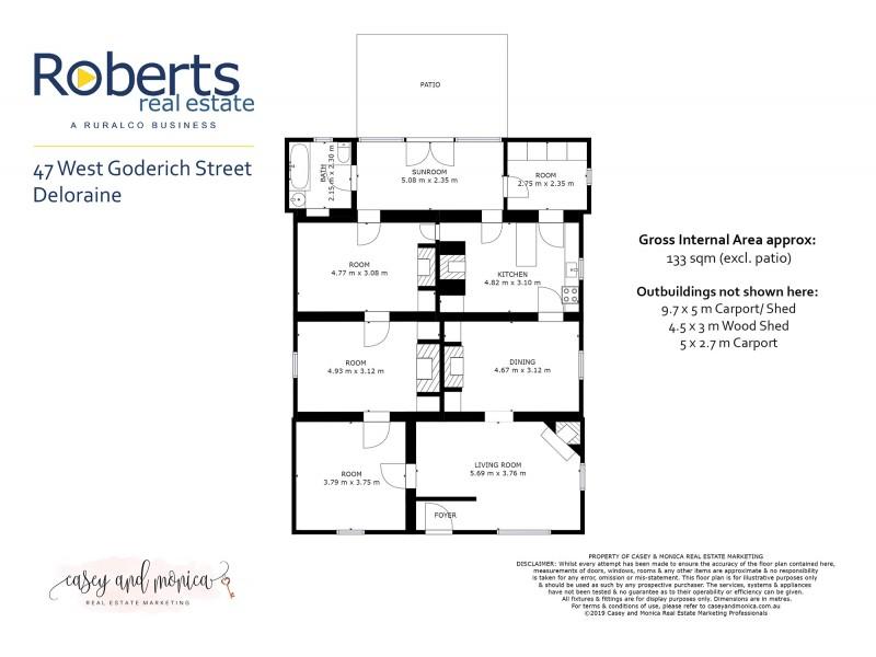 47 West Goderich Street, Deloraine TAS 7304 Floorplan