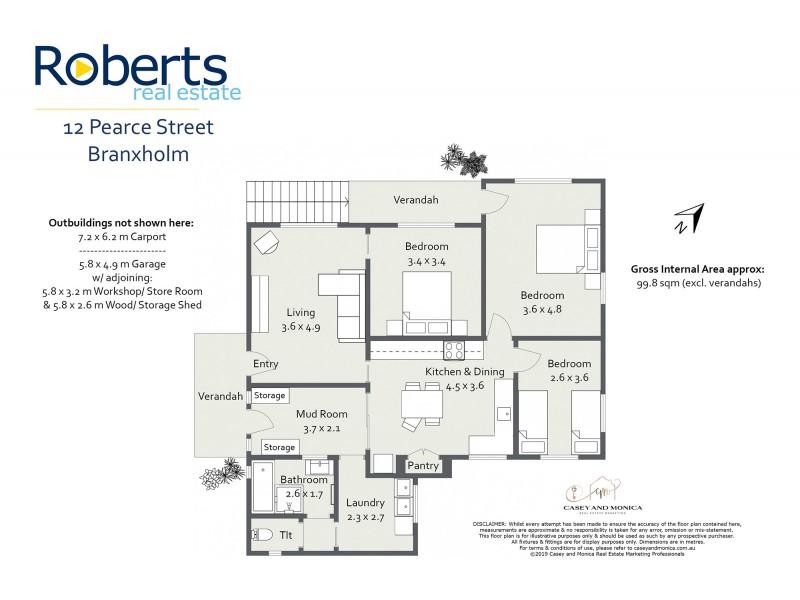 12 Pearce Street, Branxholm TAS 7261 Floorplan