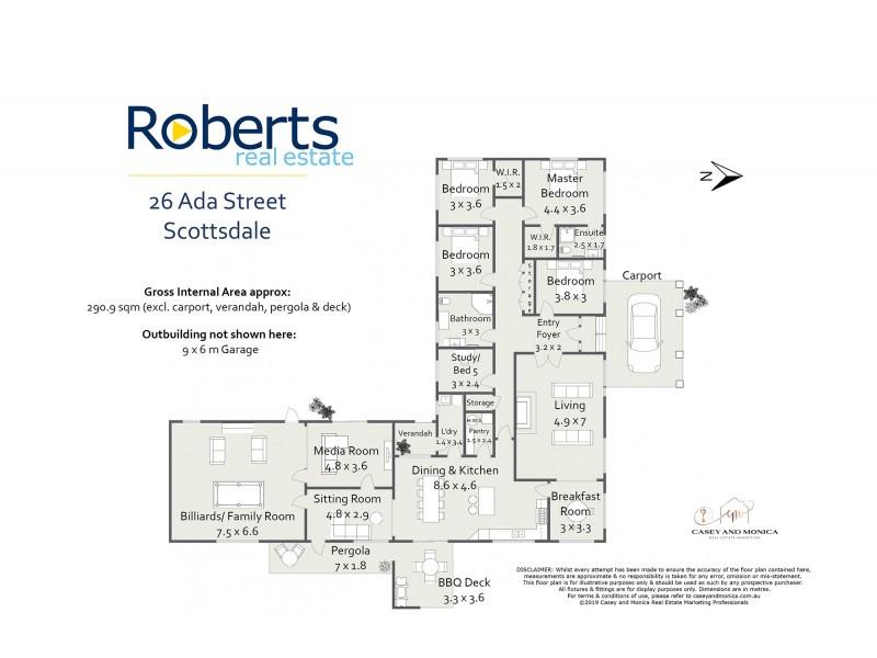 26 Ada Street, Scottsdale TAS 7260 Floorplan