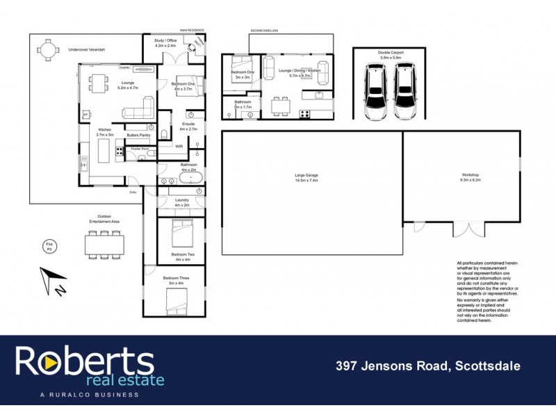 397 Jensens Road, Scottsdale TAS 7260 Floorplan