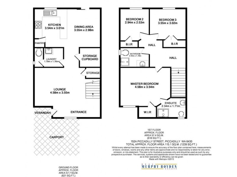 152A&B Piccadilly St Piccadilly, Kalgoorlie WA 6430 Floorplan