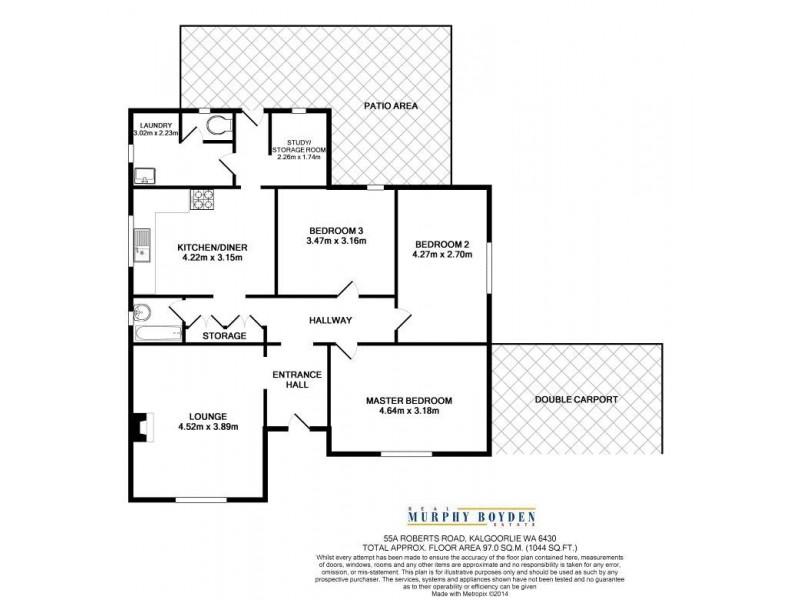 55A Roberts St, Kalgoorlie WA 6430 Floorplan