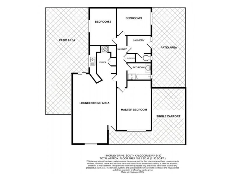 1 Morley Way South Kalgoorlie, Kalgoorlie WA 6430 Floorplan