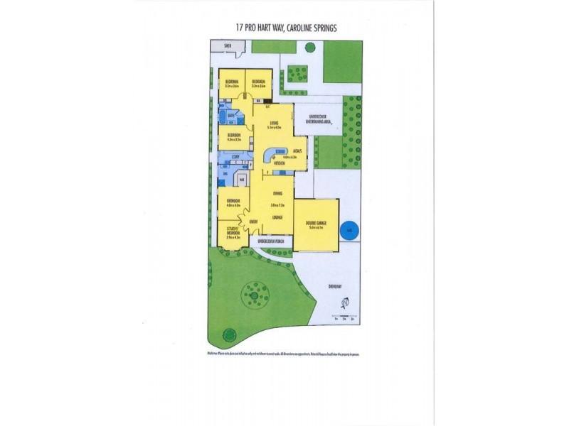 17 Pro Hart Way, Caroline Springs VIC 3023 Floorplan