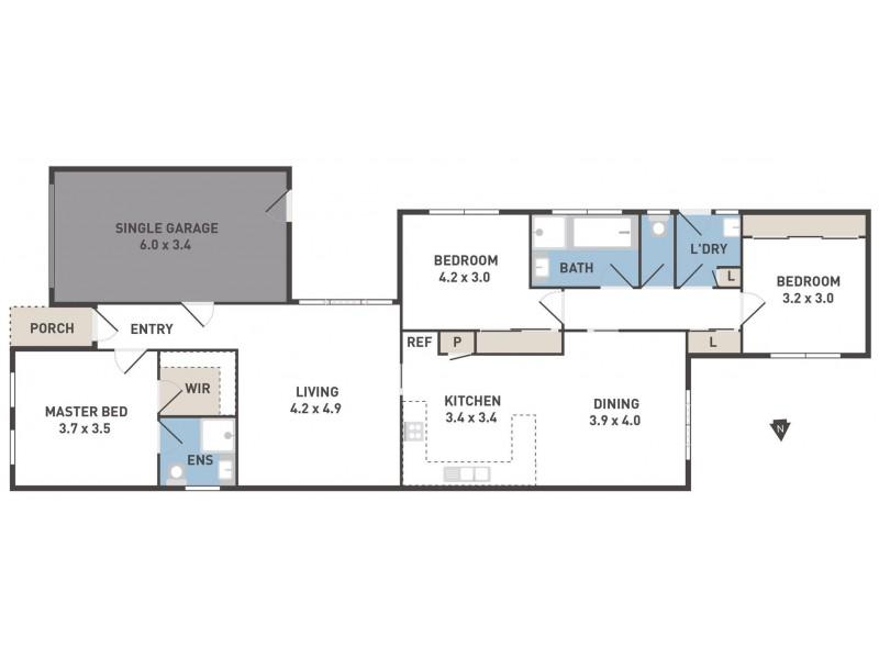 2/8 Westminster Avenue, Hillside VIC 3037 Floorplan