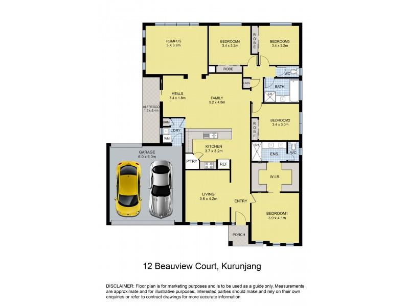 12 Beauview Court, Kurunjang VIC 3337 Floorplan