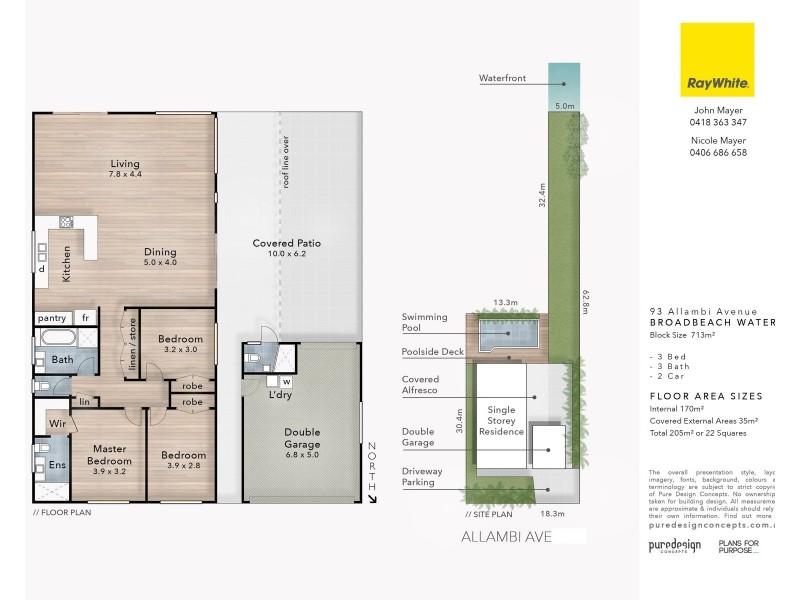 93 Allambi Avenue, Broadbeach Waters QLD 4218 Floorplan