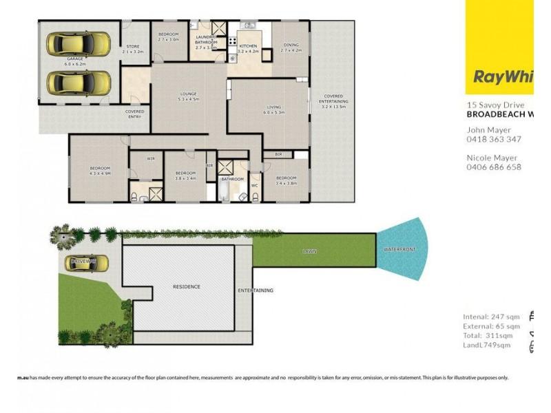 15 Savoy Drive, Broadbeach Waters QLD 4218 Floorplan
