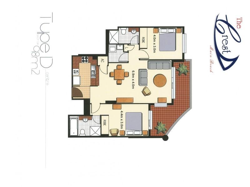The Crest, 15 Breaker Street, Main Beach QLD 4217 Floorplan
