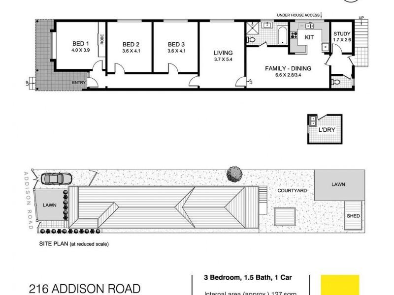 216 Addison Road, Marrickville NSW 2204 Floorplan