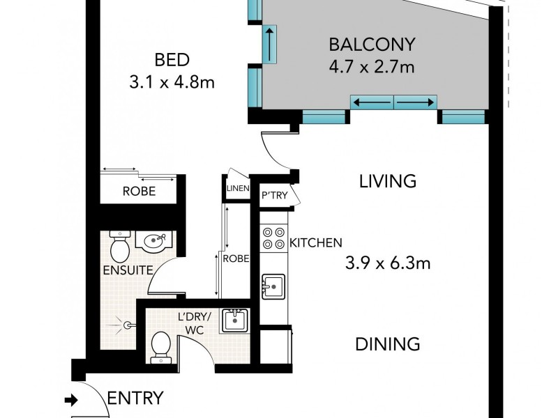302E/1-5 Hunter Street (enter via Mcevoy Street), Waterloo NSW 2017 Floorplan