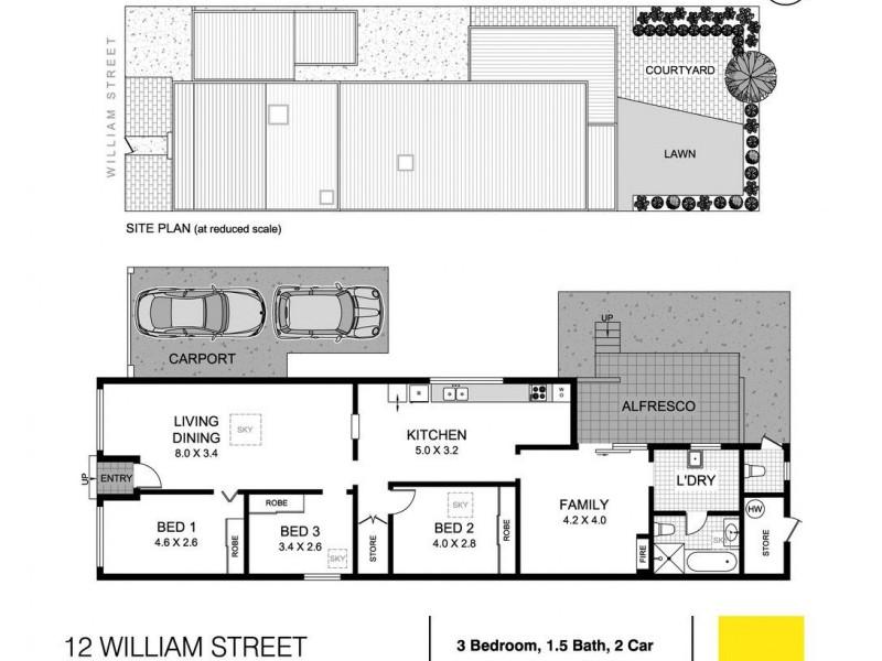 12 William Street, Tempe NSW 2044 Floorplan