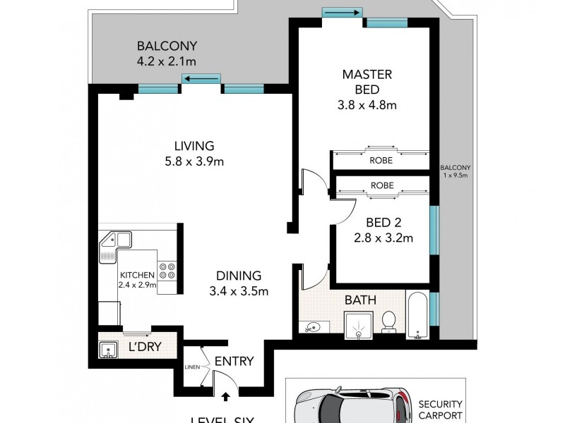35/471 South Dowling Street, Surry Hills NSW 2010 Floorplan