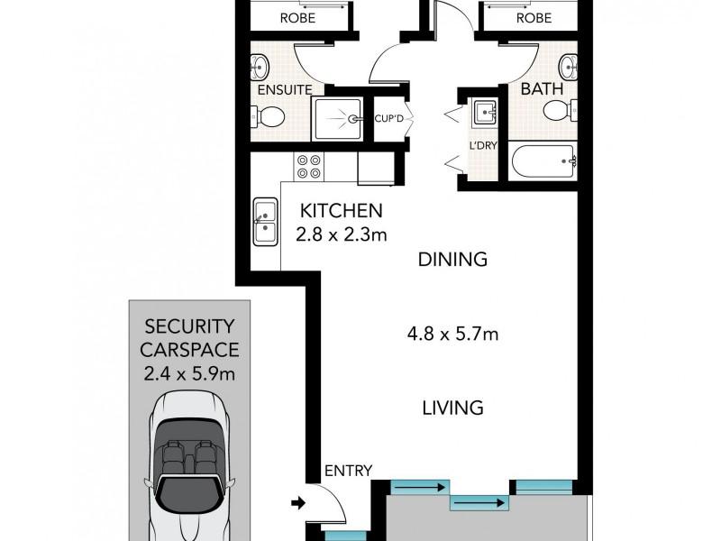 83/1 Shirley Street, Alexandria NSW 2015 Floorplan