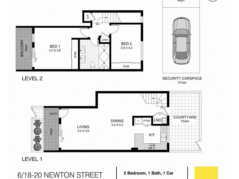 6/18-20 Newton Street, Alexandria NSW 2015 Floorplan