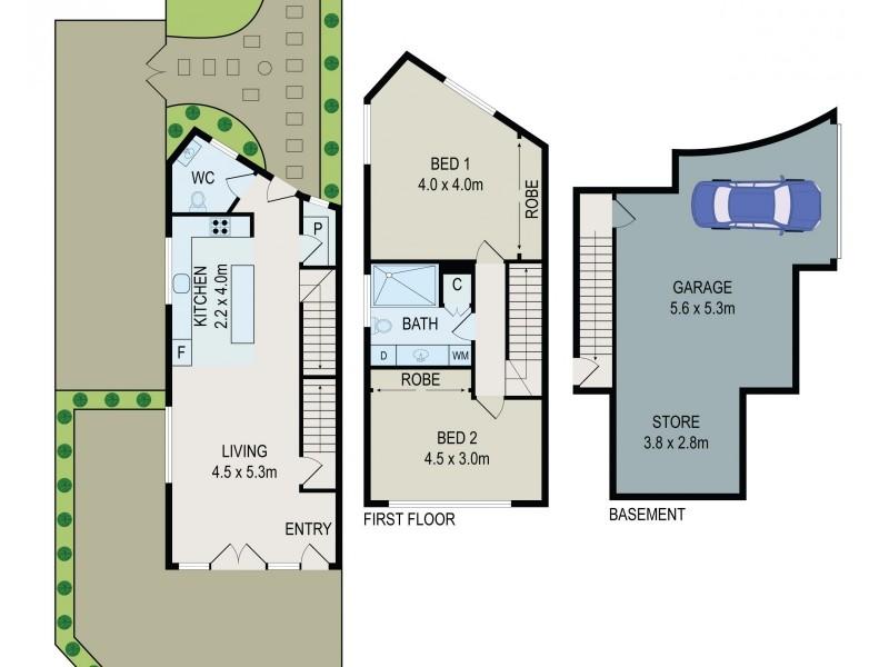 1/148 Hurstville Road, Oatley NSW 2223 Floorplan