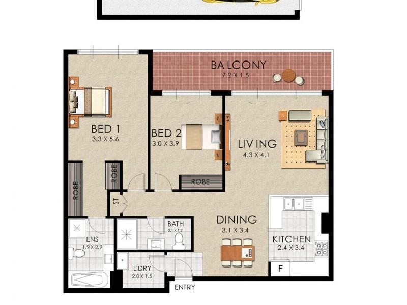 1/79 Boyce Road, Maroubra NSW 2035 Floorplan