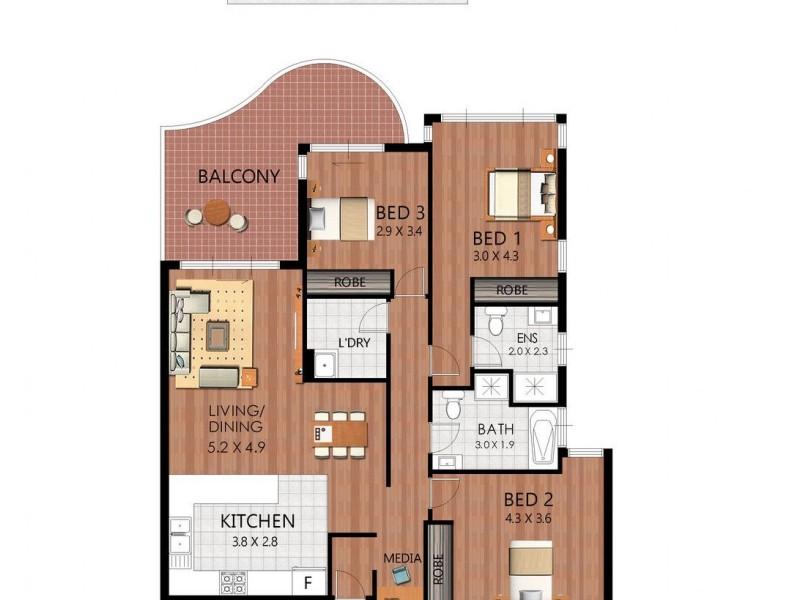 38/48-50 Gardeners Road, Kingsford NSW 2032 Floorplan