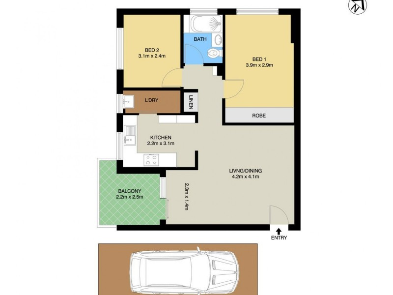 1/27 Morrison Road, Gladesville NSW 2111 Floorplan
