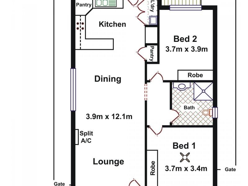 14/25 Fradd Court, Angle Vale SA 5117 Floorplan