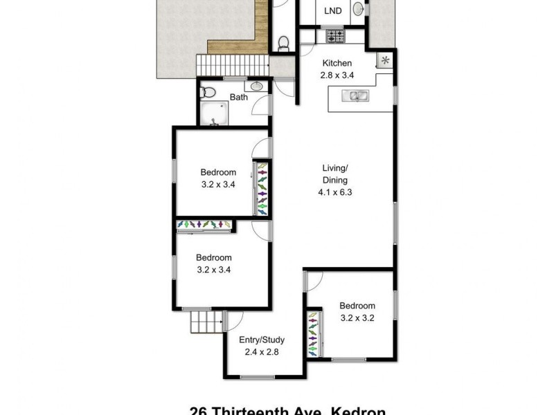 26 Thirteenth Avenue, Kedron QLD 4031 Floorplan