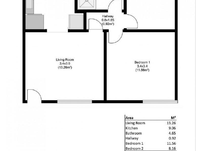 99/3 Noblet Street, Findon SA 5023 Floorplan