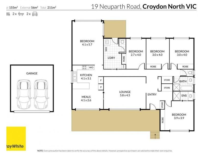 19 Neuparth Road, Croydon North VIC 3136 Floorplan