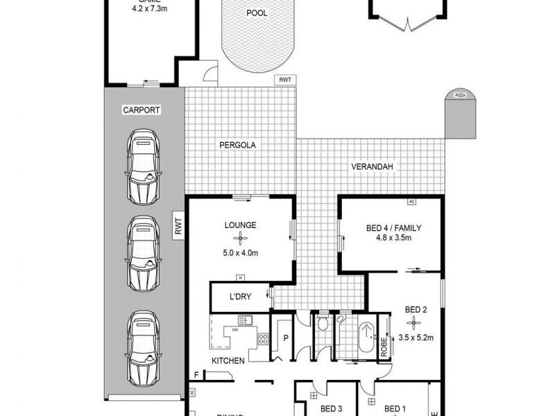 15 Rosedale Avenue, Blair Athol SA 5084 Floorplan