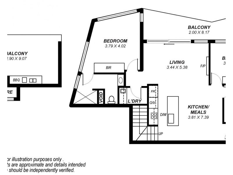 2605/411 King William Street, Adelaide SA 5000 Floorplan