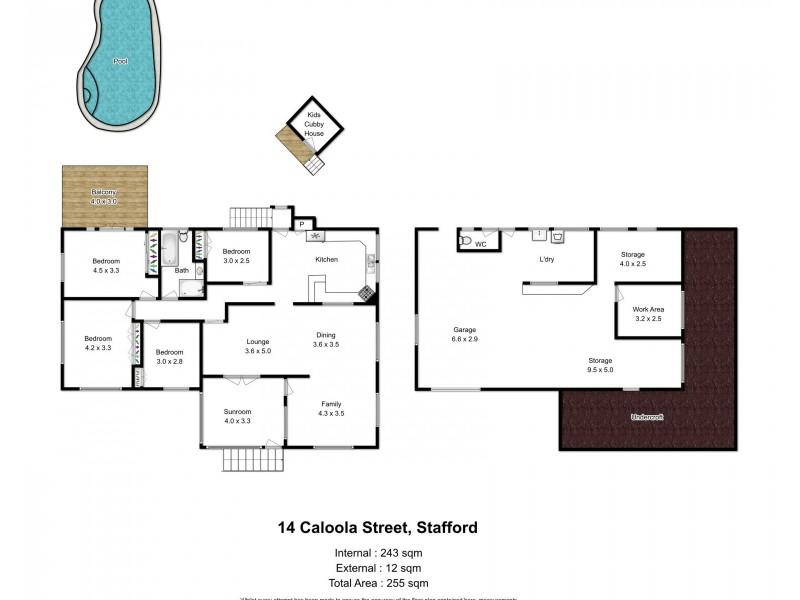14 Caloola Street, Stafford QLD 4053 Floorplan