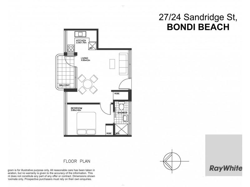 27/24 Sandridge Street, Bondi NSW 2026 Floorplan