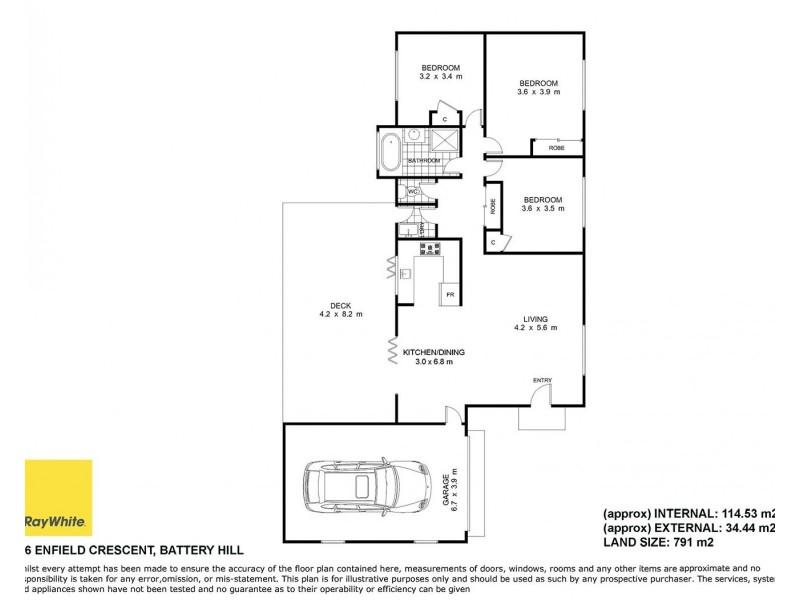 46 Enfield Crescent, Battery Hill QLD 4551 Floorplan