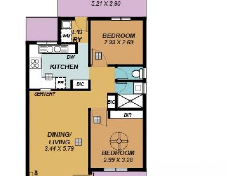 16/24 Short Street, Mansfield Park SA 5012 Floorplan