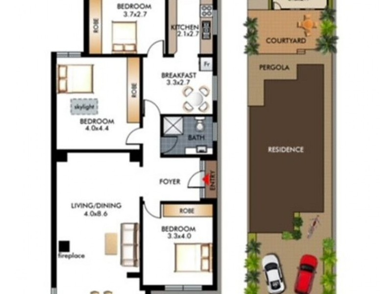 112 Beach Road, North Bondi NSW 2026 Floorplan