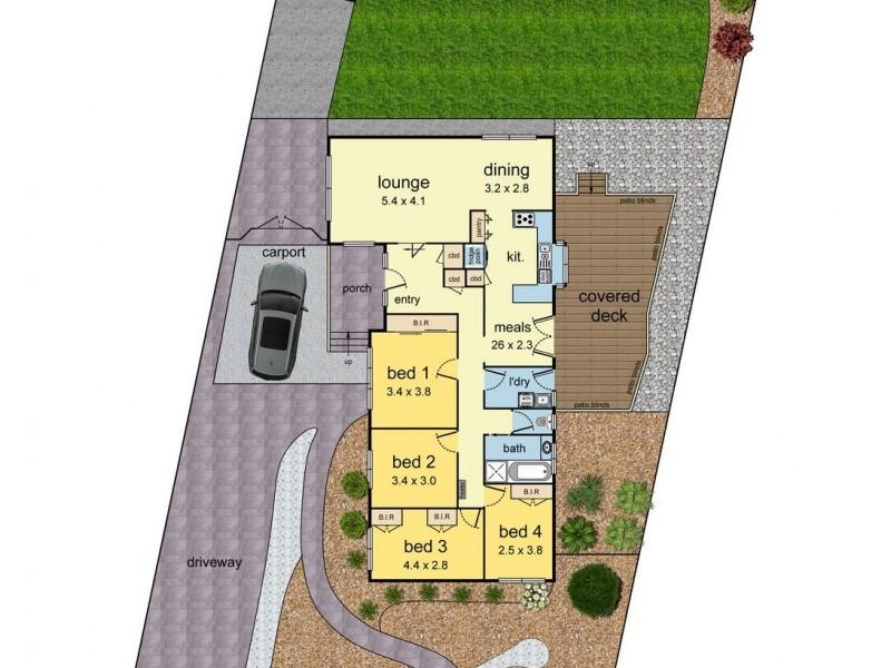 28 Ninevah Crescent, Wheelers Hill VIC 3150 Floorplan