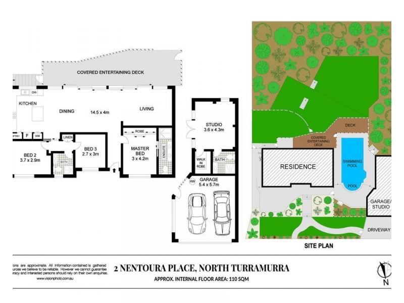 2 Nentoura Place, Turramurra NSW 2074 Floorplan
