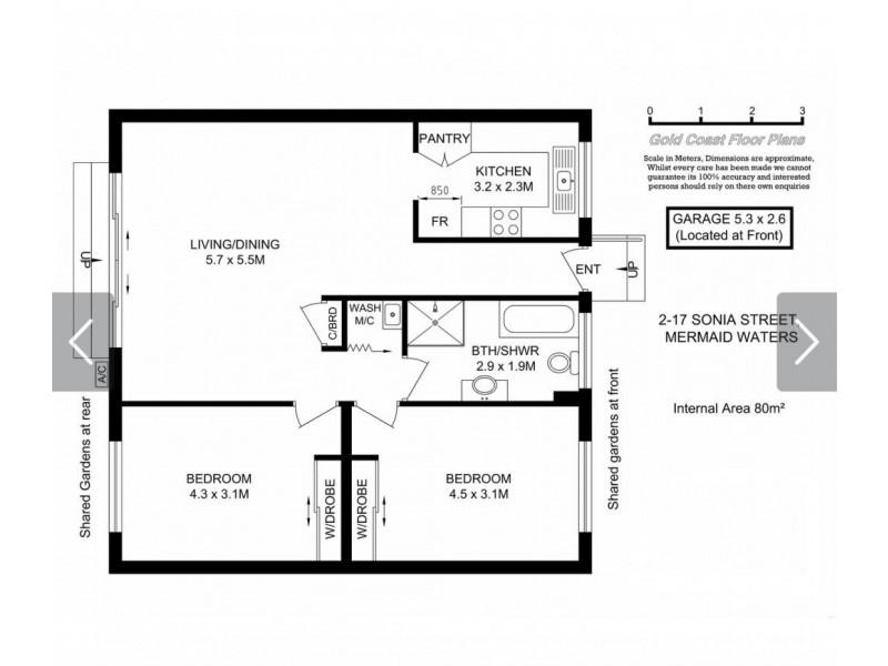 2/17 Sonia Street, Mermaid Waters QLD 4218 Floorplan