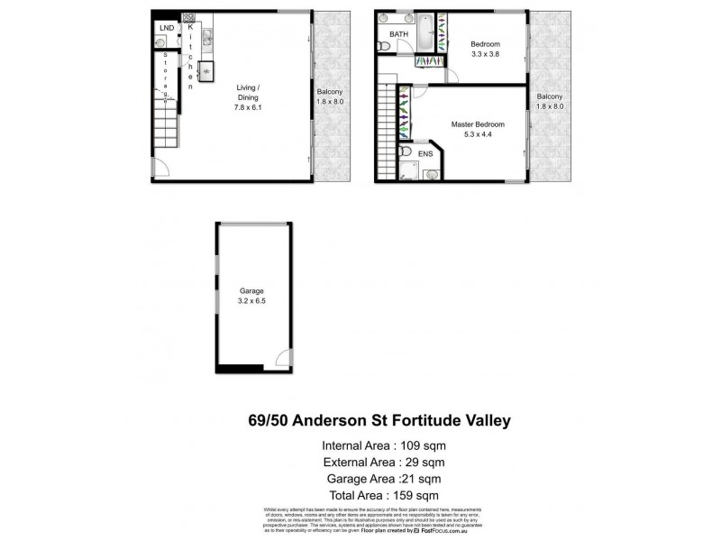 U 69/50 Anderson Street, Fortitude Valley QLD 4006 Floorplan