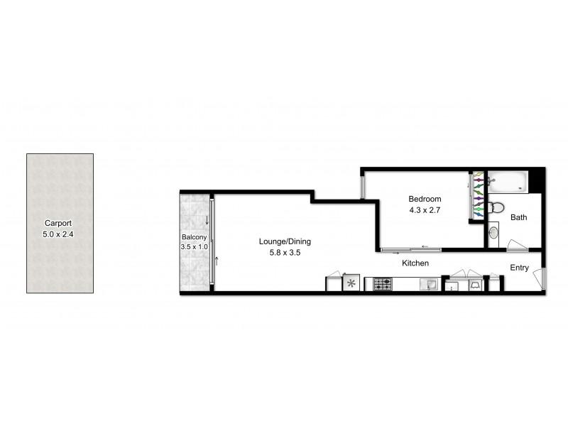 L2/66 Manning St, South Brisbane QLD 4101 Floorplan
