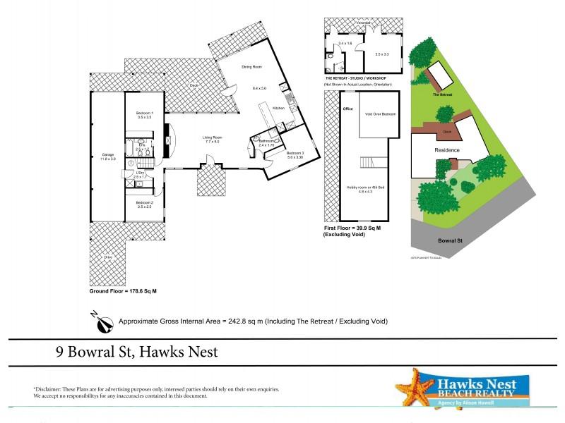 9 Bowral Street, Hawks Nest NSW 2324 Floorplan
