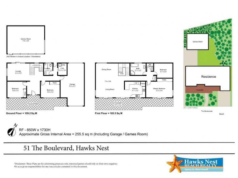 51 The Boulevarde, Hawks Nest NSW 2324 Floorplan