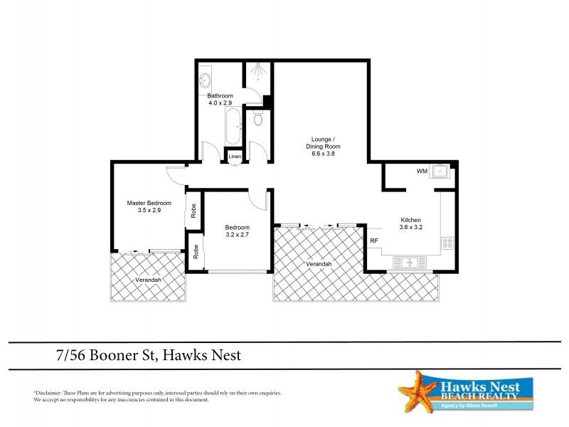 7/56 Booner Street, Hawks Nest NSW 2324 Floorplan