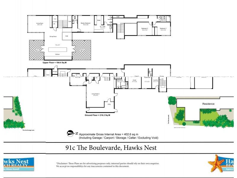 91C The Boulevarde, Hawks Nest NSW 2324 Floorplan