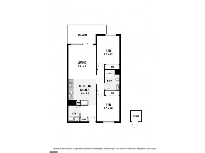C108/460 Victoria Street, Brunswick VIC 3056 Floorplan