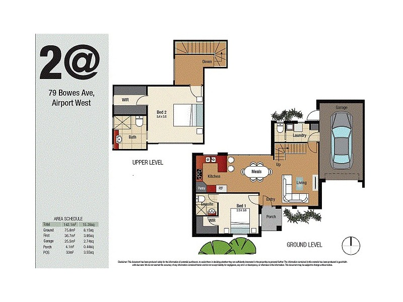 2/79 Bowes Avenue, Airport West VIC 3042 Floorplan