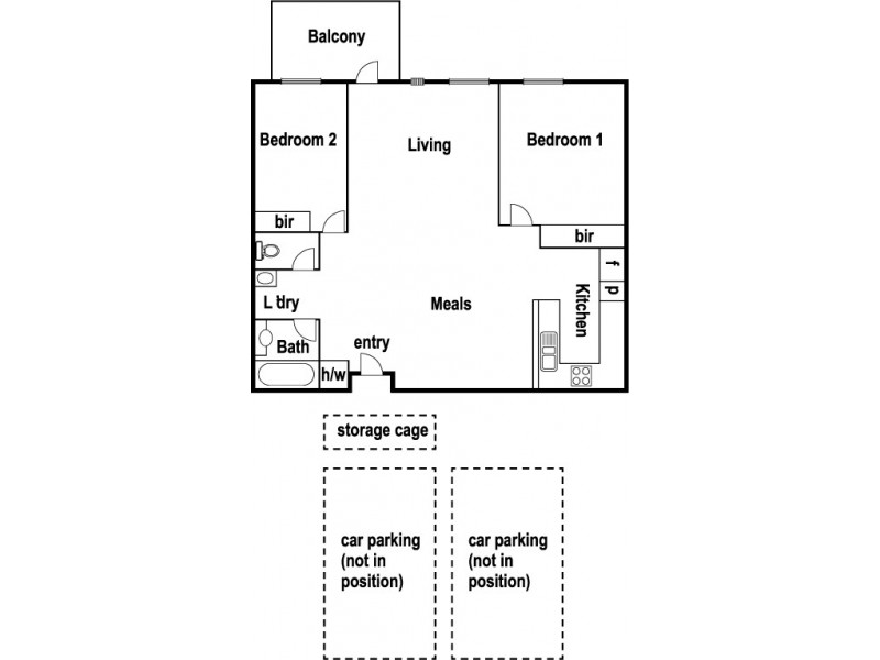 319/5 Ordnance Reserve, Maribyrnong VIC 3032 Floorplan